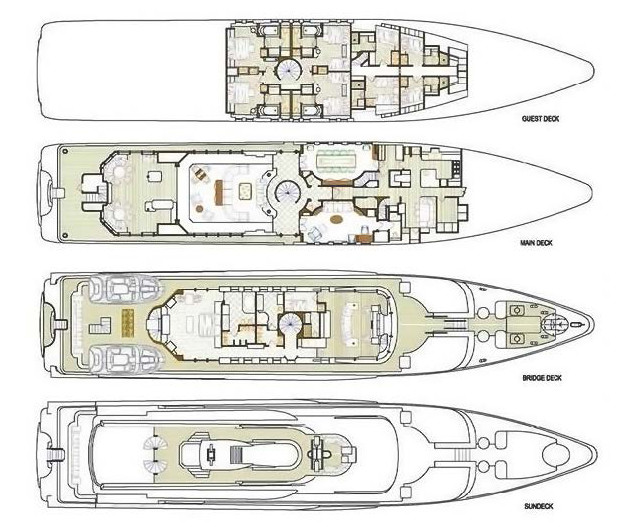She's A 10 Yacht Deck Plan